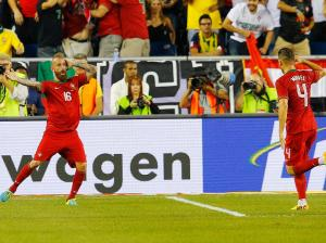 Raul Meireles and Miguel Veloso - Portugal vs Brazil