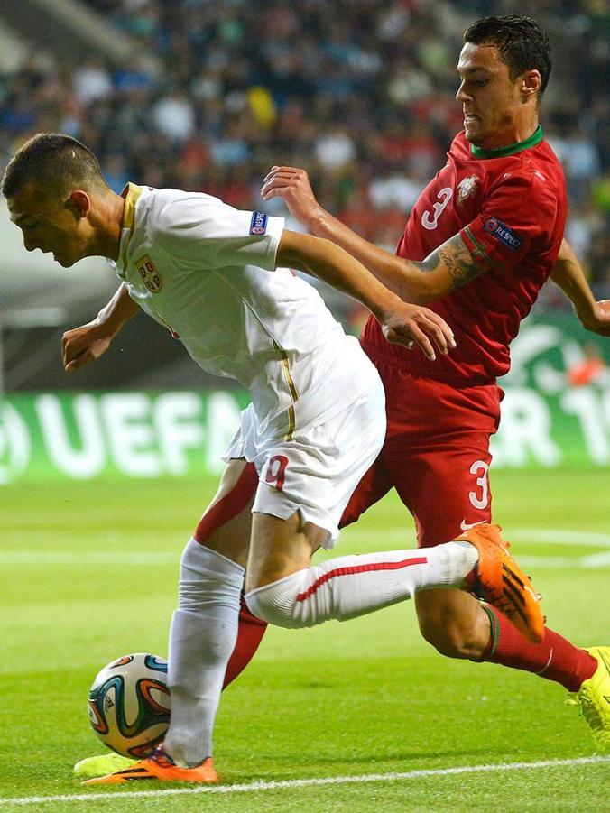 Joao Nunes - Serbia V Portugal - 2014 U19 Euro
