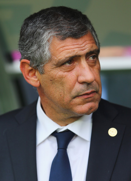 Fernando Santos with Greece