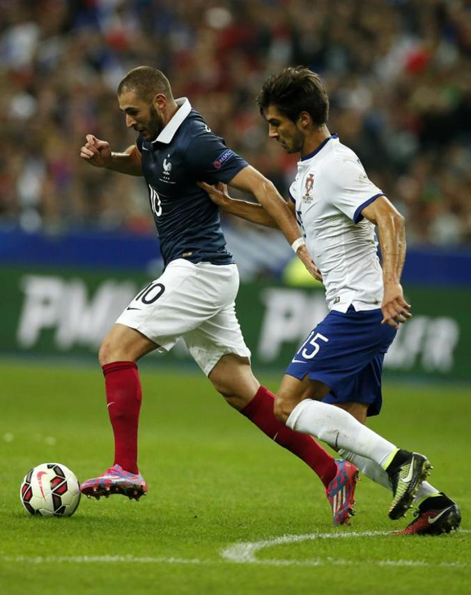 France vs Portugal - Andre Gomes in action