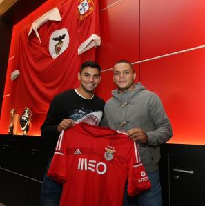 Jonathan Rodriguez, pictured at right, is highly touted as a star for the future. Photo: SL Benfica