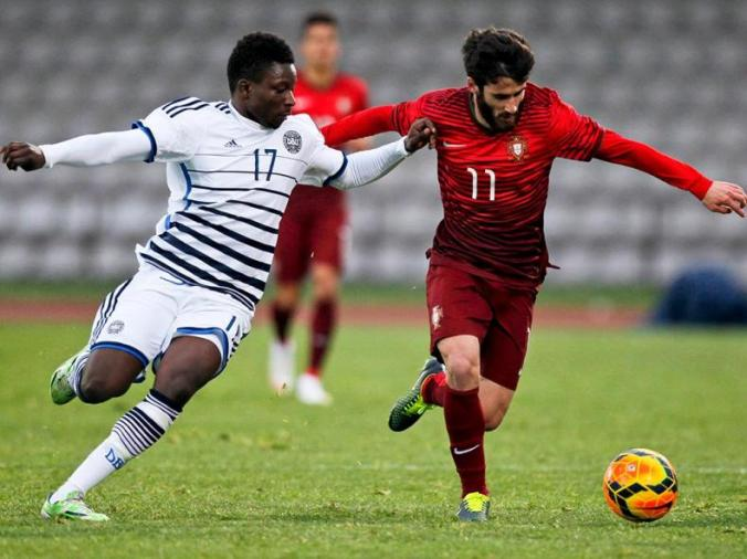 Rafa Silva in action for Portugal.