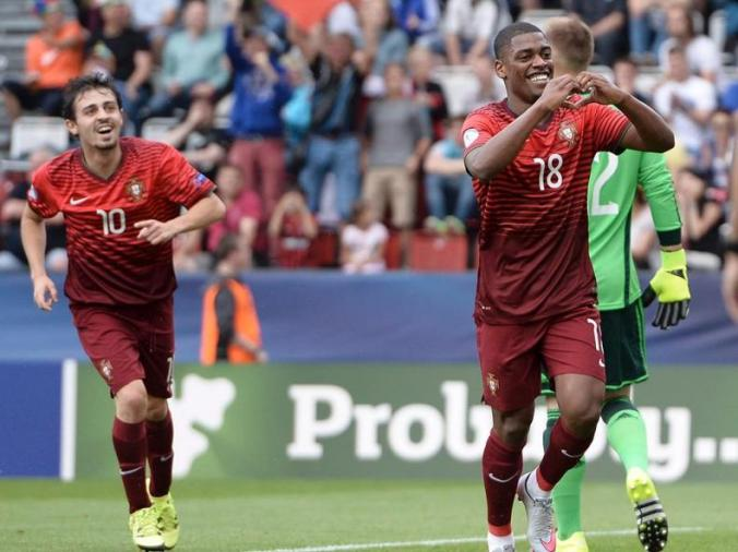 Portugal's Ivan Cavaleiro celebrating his goal. Photo: Lusa