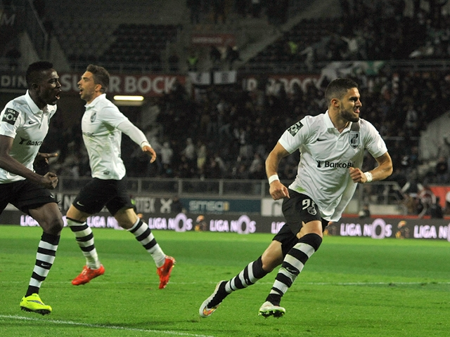 Ricardo Valente (right), pictured here celebrating a goal scored against arch-rivals SC Braga this season.